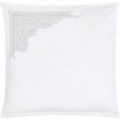 Christian Fischbacher Aurelie 010 blanc, coussin Luxury Nights