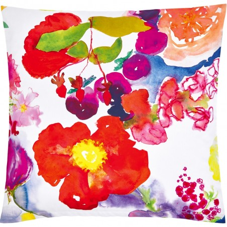 Christian Fischbacher Flower Power coussin floral en satin