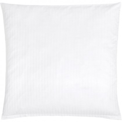 Christian Fischbacher White Nights, blanc avec rayures, coussin en satin