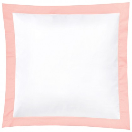 Christian Fischbacher Color Frame 023 peach, linge de lit en satin