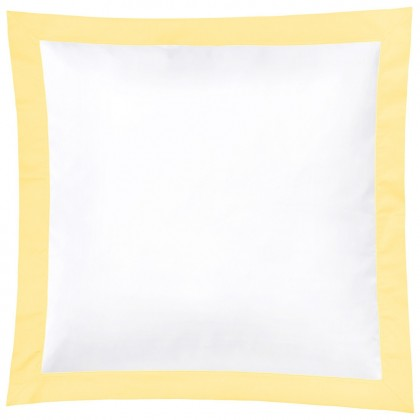 Christian Fischbacher Color Frame 013 jaune clair, linge de lit en satin