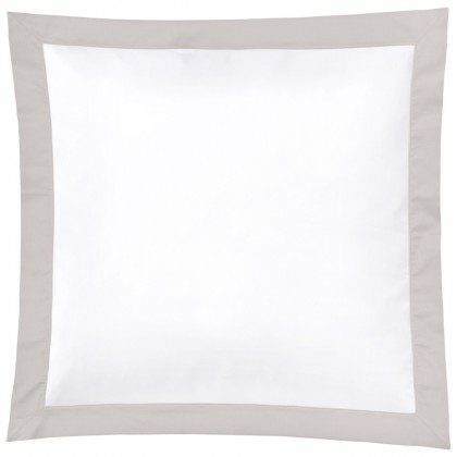 Christian Fischbacher Color Frame 305 gris clair, linge de lit en satin